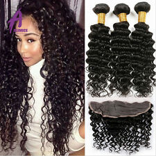 Wave bundle sew in curly hair extensions ebay lace frontal closure bundles peruvian human hair extensions weave curly hair pmusecretfo Image collections