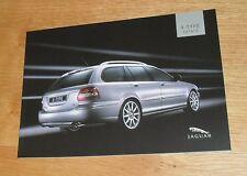 Jaguar X Type Estate Brochure 2005 - Sport Premium SE S - 3.0 2.5 2.0 V6 2.0d