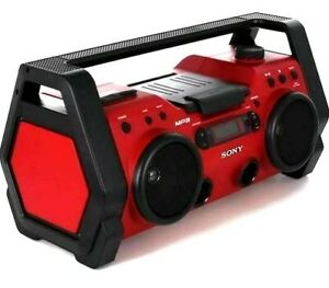 "Sony  (ZS-H10CP) AM/FM & CD  Rugged jobsite 20"" boombox  water & dust-resistant"