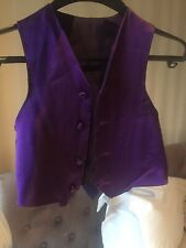 Purple silk satin waistcoat 3 years old - formal/wedding wear