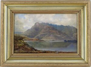 Loch Leven Scotland Antique Oil Painting by William Harold Cubley (1816 – 1896)
