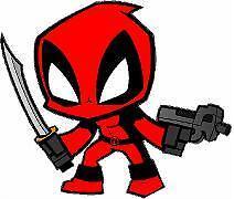 "Deadpool Comics Superhero 4""x4"" Vinyl Decal Sticker"