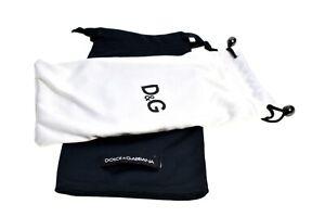 Dolce & Gabbana Sunglasses pouch set Black White New Authentic