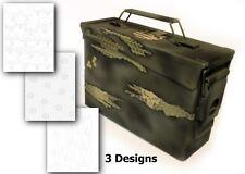 3PK Camouflage EasyPeel Spray Paint Duracoat Camo Gun Stencil TORN PUNISHER SET