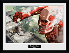 Attack On Titan Titan Anime Framed Poster Print Photo 40x30cm   12x16 inches