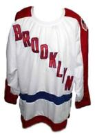 Any Name Number Size Brooklyn Americans Custom Retro Hockey Jersey White