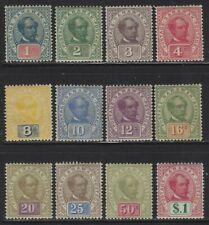 Sarawak 1899 Charles J Brooke set Sc# 36-47 mint