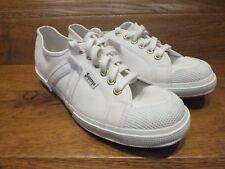 Superga Boston Club Blanco Lona Informal Zapatillas Size UK 9 EU 43-Nuevo