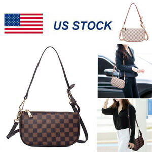Women/'s PU Leather Chain Bag Cross Body Bag Handbag Clutch Shoulder Bag