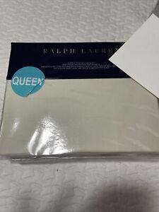 Ralph Lauren Olivia Mirada Queen Extra Deep Fitted Sheet Cream MSRP $145