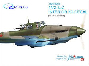 Quinta studio's QD72008 IL-2 Shturmovik  3D-Printed & coloured Interior (Tamiya)