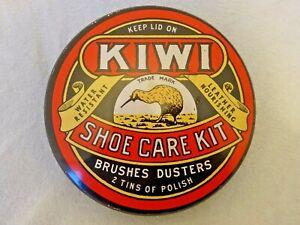 Large Kiwi Vintage Retro Shoe Care Kit Tin Boot Polish1980s