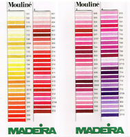Madeira Mouline 10M Stranded Embroidery Cotton Thread Slow Stitching 0202 - 0214