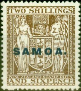 Samoa 1928 2s6d Deep Grey-Brown SG166 Fine Mtd Mint
