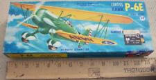 "RARE 1950's AURORA CURTISS HAWK P-6E 1/4"" SCALE MODEL KIT COMPLETE IN BOX EX!"