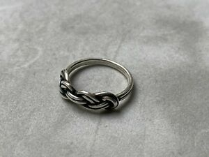 Genuine Trollbeads Savoy Knot Silver Ring Size O (Trollbeads Size 55) RRP £50