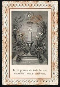 Holy card canivet antique de la Cruz santino image pieuse estampa