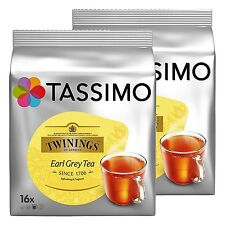 2 Packs Tassimo Twinings Thé Earl Grey T Disques Dosettes - 32 T Disques 32 Boissons Neuf