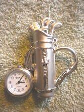 GANZ Miniature Golf Bag/Clubs Clock.      Free Watch Included!!
