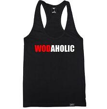 WODAHOLIC WOMEN RACERBACK TANK TOP SHIRT CROSSFIT TRAIN YOGA GYM WOD RUNNING HOT