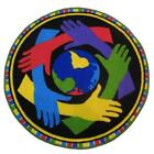 Fun Rug FTS-153 39RD 39 in. Round Fun Time Shapes-Hands Around The World Medi...