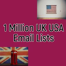 1 Million USA UK ✔️✔️ Consumer Customer B2B B2C Email List Sales database ✔️ ✔️