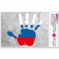 Aufkleber - Russland - Hand - Fahne - bumper sticker - car - flag Flagge russia