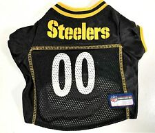 "Pittsburgh Steelers NFL Licensed Pet Polyester Dog Jersey Shirt - Small 11"" Long"