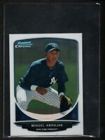 MIGUEL ANDUJAR 2013 Bowman Chrome Mini #195 NY Yankees Non Auto Rookie Card RC