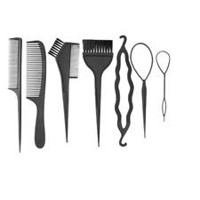 7pcs Cheveux Peigne femmes À faire soi-même Cheveux Brosse Twist Styling Bun Mak...