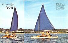 New York NY DC-14 Portable Motor-Sailor Catamaran Advertising Postcard