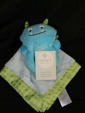 Carters Monster Lovey Security Blanket & Rattle Blue Green New with Tags