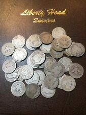 40 Barber Junk Quarters As Pictured- See My Listings For Great Silver Coins!