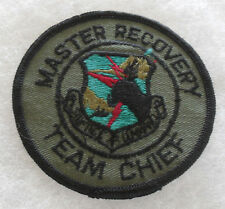 "SAC ""MASTER RECOVERY TEAM CHIEF"" MUTED ON TWILL MERROWED EDGE"