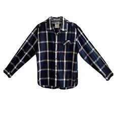 Levi's Men's Size M Button Front Casual Shirt Standard Fit Blue White Check