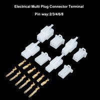 6.3mm 2/3/4/6/8-polig Set Steckverbinder Stecker Kabel Verbinder Auto Motorrad
