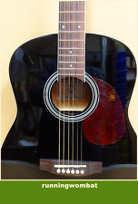 VGS D-Baby 3/4 Size OM Acoustic Guitar – BLACK + Gig Bag + Strings