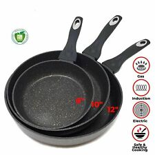 Non Stick Stone Marble Coating Forged Aluminium Fry Pans With Induction...