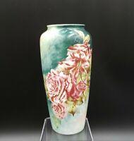 "Rosenthal Bavaria Handpainted Roses 6"" Flower Vase EXCELLENT"
