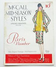 Vintage Sewing Pattern Catalog McCall Quarterly Paris Number 1928 Designer
