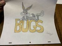 """Virgil Ross Sketch - Bugs Bunny BUGS Laying Down. Signed 12.5x10.5"""""""