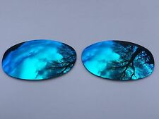 POLARIZED ICE BLUE MIRRORED REPLACEMENT LENSES FOR OAKLEY E WIRE 2.1
