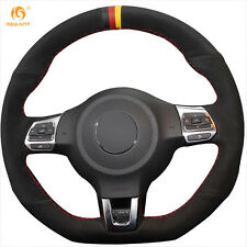 Black Suede Steering Cover for Volkswagen Golf 6 GTI MK6 VW Polo GTI Scirocco R