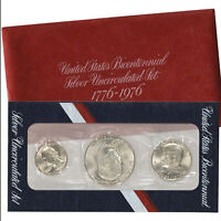 1976 S Bicentennial US Mint 40% Silver set Gem Uncirculated