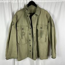 Original WWII US Army Hbt Jacket POW Prisoner Of War Stenciled