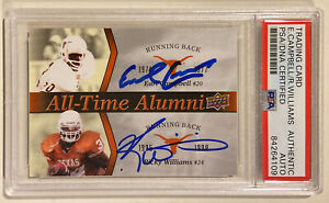 2011 Upper Deck EARL CAMPBELL RICKY WILLIAMS Auto Signed Football Card PSA/DNA