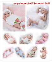 10-11'' Reborn Baby Boy Girl Doll Clothing Set Newborn UnIncluded Bebe Doll C293