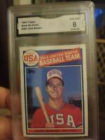 1985 Topps Mark Mcgwire RC #401  84 USA Team GMA  8 NM-MT