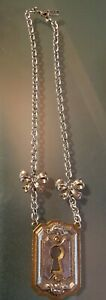 Vintage  Karyn Cantor Classic Hardware Collectable LOCK Necklace & Pendant