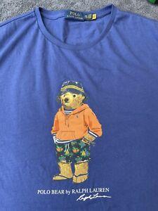 Ralph Lauren Polo Bear T Shirt XXL, 2XL, Hoodie Bear, Ltd Edition, RARE